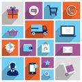Shopping e-commerce icons Royalty Free Stock Photo