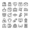Shopping and E Commerce Vector  Icons 2 Royalty Free Stock Photo