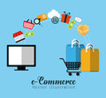 Shopping and ecommerce graphic design Royalty Free Stock Photo