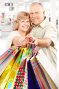 Shopping elderly people Royalty Free Stock Images