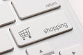 Shopping enter key button on white keyboard Stock Image