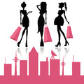 Shopping fashion girls Royalty Free Stock Photo