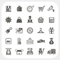 Shopping and finance icons set eps dont use transparency Royalty Free Stock Image
