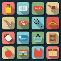 Shopping flat vector icons Stock Image