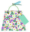 Shopping Flowers Bag Stock Images