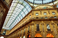 Shopping gallery in milan inside mall vittorio emanuele milano italy Royalty Free Stock Image