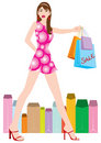 Shopping girl 2 Royalty Free Stock Photo