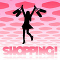 Shopping girl background Royalty Free Stock Photography