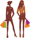 Shopping girls Stock Image