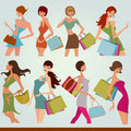 Shopping girls Royalty Free Stock Photo