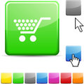 Shopping glossy button. Royalty Free Stock Images