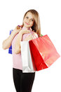 Shopping happy woman and a lot of bags Stock Images