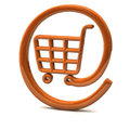 Shopping icon 3d Stock Images