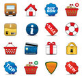 Shopping Icon Set Stock Image
