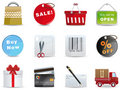 Shopping icon set Royalty Free Stock Images