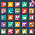 Shopping icon set of icons Royalty Free Stock Photos
