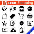 Shopping Icon Set Illustration...