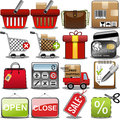 Shopping icon set illustration featuring and commerce on white background eps file is available check my portfolio for other Stock Images