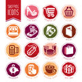 Shopping icon set Royalty Free Stock Photo