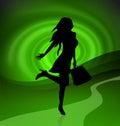 Shopping icon woman Stock Photos