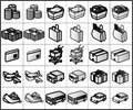 Shopping Icons #01 Royalty Free Stock Photo