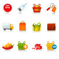 Shopping icons Stock Photography