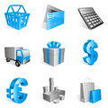 Shopping icons. Stock Image