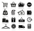 Shopping icons collection of for web or print Stock Images