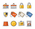 Shopping Icons Fresh Collection - Set 9 Stock Photos