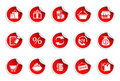 Shopping icons icons | Sticky series Royalty Free Stock Photo