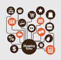 Shopping icons over gray background vector illustration Royalty Free Stock Image