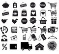 Shopping icons set Stock Photos