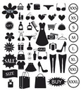 Shopping icons set Stock Image
