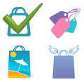 Shopping icons set of colorful Royalty Free Stock Image