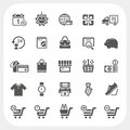 Shopping icons set eps don t use transparency Royalty Free Stock Photography