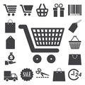 Shopping icons set illustration eps Stock Photography