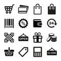Shopping Icons set Royalty Free Stock Photo