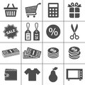 Shopping icons set - Simplus series Stock Image