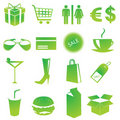 Shopping icons vector Royalty Free Stock Image