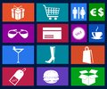 Shopping icons vector illustration art Royalty Free Stock Photos