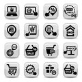 Shopping icons vector set created for mobile web and applications Royalty Free Stock Photos