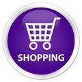 Shopping premium purple round button Royalty Free Stock Photo