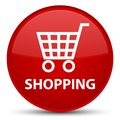 Shopping special red round button Royalty Free Stock Photo
