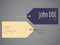 Shopping label business card design Royalty Free Stock Photo