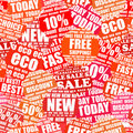 Shopping labels background Stock Photos