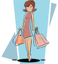 Shopping Lady Stock Photos