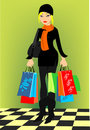 Shopping lady Stock Photo
