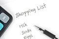 Shopping list Stock Photos