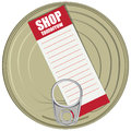Shopping list can vector illustration Stock Image