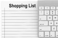 Shopping List with Keyboard Royalty Free Stock Photos
